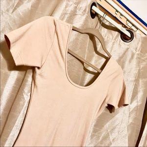 AA Cotton Spandex Jersey U-Back Dress, NWOT
